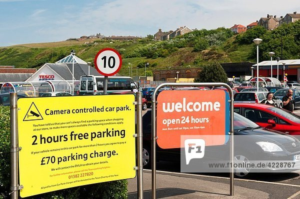 The Tesco shop store supermarket with 2 hours free parking at Whitehaven   Cumbria   England   Great britain   Uk