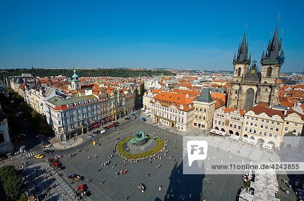 Staromestské Namesti. Old Town Square. View from old town hall. Prague. Czech Republic.