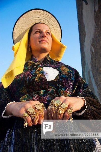 Church. Regionals Dance and Dress in Sant Agustí des Vedrá. Ibiza. Balearic Islands. Spain.