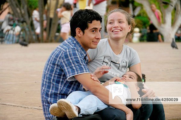 MEXICO Young family of Merida  Yucatan photo by Sean Sprague