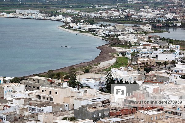 Tunisia  Cap Bon  Kelibia  elevated town view from Kelibia Fort