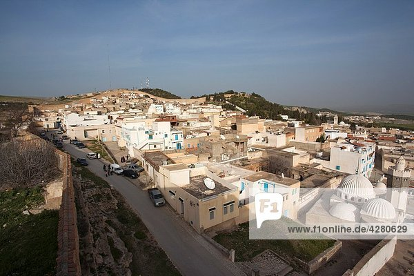 Tunisia Central Western Tunisia  Le Kef  elevated town view from The Kasbah