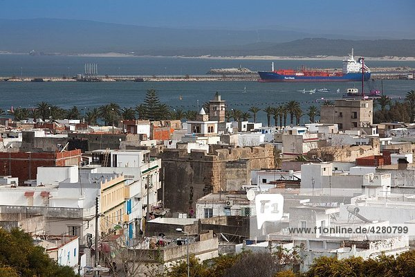 Tunisia  Northern Tunisia  Bizerte  Old Port  elevated view from the Spanish Fort