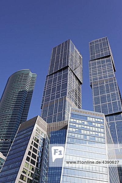 Moskau  Internationales Geschäftszentrum  Business Center  Stadt  Russland  Europa  europäisch  Osteuropa  russisch  Architektur