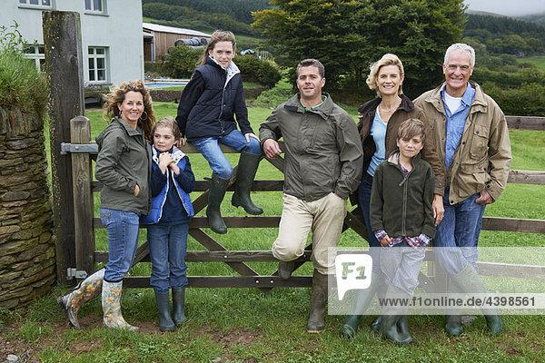 Generational family on farm