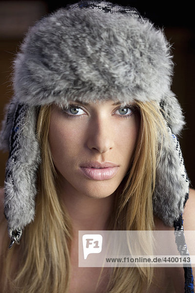 Girl wearing hat