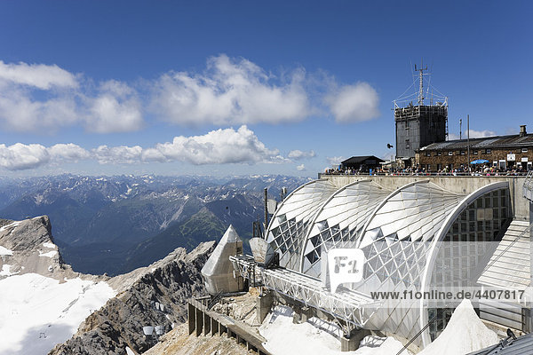 Austria  Tyrol  Zugspitze  Observation point and mountain ranges