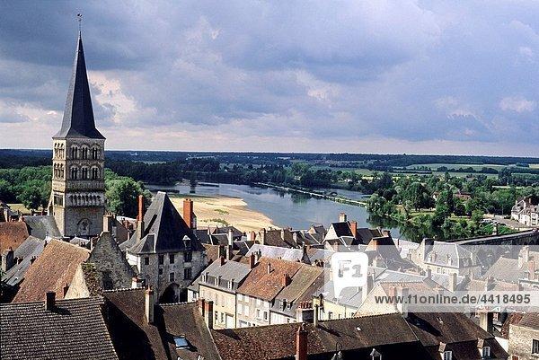 La Charite-sur-Loire  Nievre department  region of Burgundy  center of France  Europe