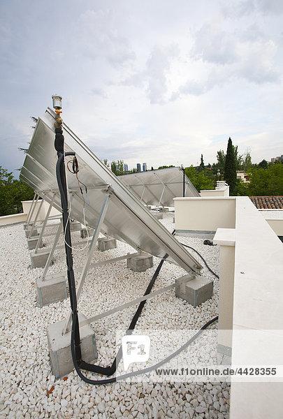 Dach Energie energiegeladen sauber Sonne