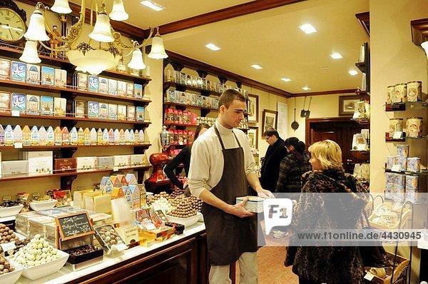 La Belgique Gourmande chocolate shop at Galerie de la Reine  Brussels  Belgium