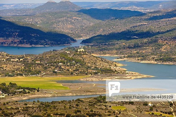 Reservoir of Entrepeñas as seen from El Olivar  La Alcarria  Guadalajara province  Castilla-La Mancha  Spain