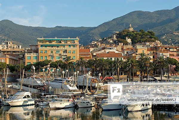 View over the harbor of San Remo at the Ligurian Coast  North West Italy