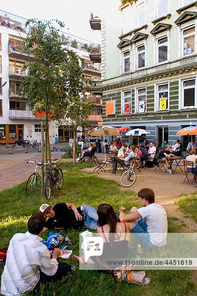 Germany  Hamburg  St. Pauli. The trendy area of karolinenviertel with many shops and cafes.