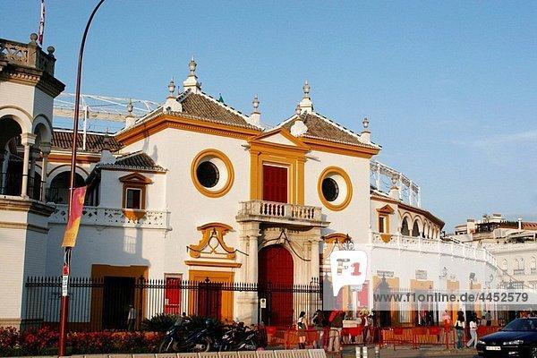The Maestranza bullring  Seville  Spain.