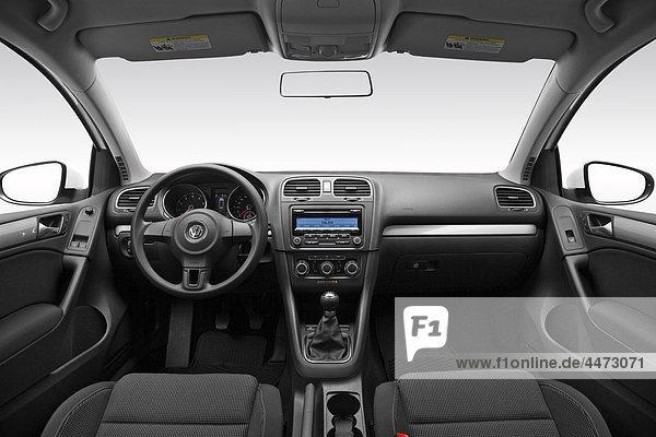 2011 Volkswagen Golf 2 5 l in weiß - Dashboard  Mittelkonsole  Getriebe Shifter Ansicht