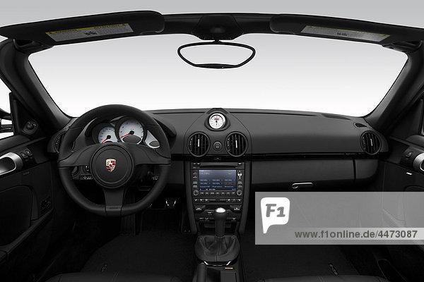 2011 Porsche Boxster S in weiß - Dashboard  Mittelkonsole  Getriebe-Shifter-Ansicht
