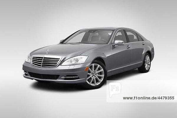 frontal Ansicht Flachwinkelansicht Silber Daimler-Chrysler S-Klasse Hybridelektrokraftfahrzeug Winkel