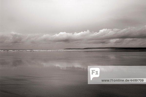 Winter cloud over Westward Ho! beach on the North Devon coast  England  United Kingdom
