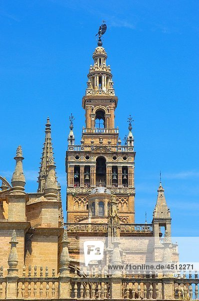 Giralda tower  Seville  Andalusia  Spain