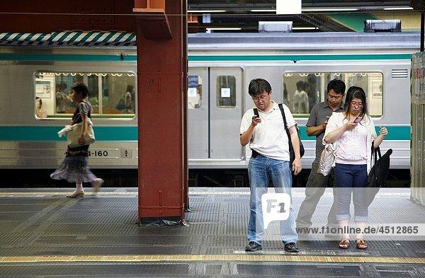 Railway station  Shinjuku  Tokyo  Japan.