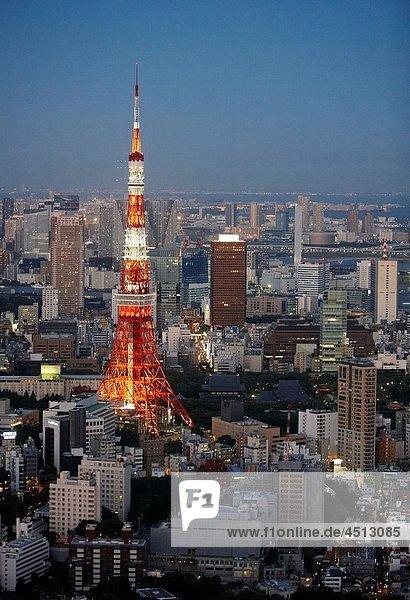 Tokyo Tower  Tokyo City View  Tokyo  Japan.
