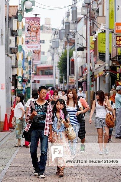 Shopping  Takeshita Dori Street  Harajuku  Tokyo  Japan.