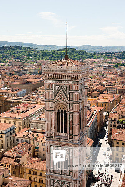 Campanile von Santa Maria del Fiore  Florenz  Italien