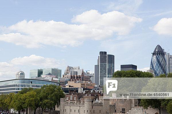 Stadt und Turm von London