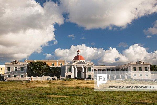 Puerto Rico  San Juan  Old San Juan  Campo del Morro field and Escuela de Artes Plasticas art school.