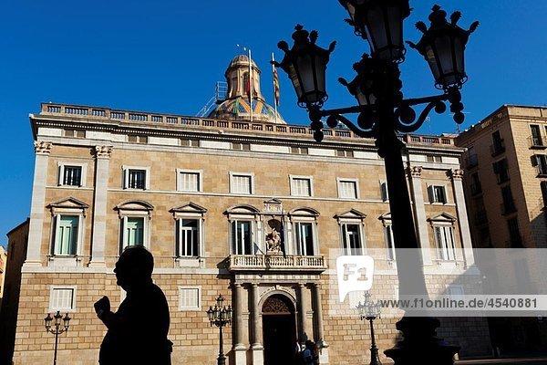 Palau de la Generalitat  Plaça Sant Jaume  Gothic quarter  Barcelona  Catalonia  Spain