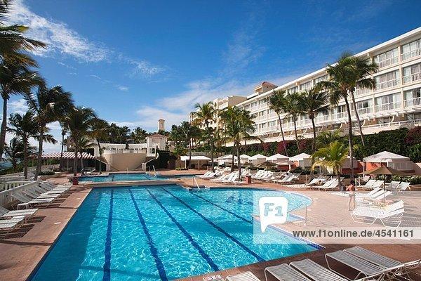 Puerto Rico  East Coast  Fajardo  El Conquistador Resort Hotel  swimming pool.