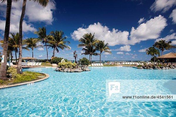 Puerto Rico  North Coast  Dorado  Embassy Suites Resort Hotel  swimming pool.