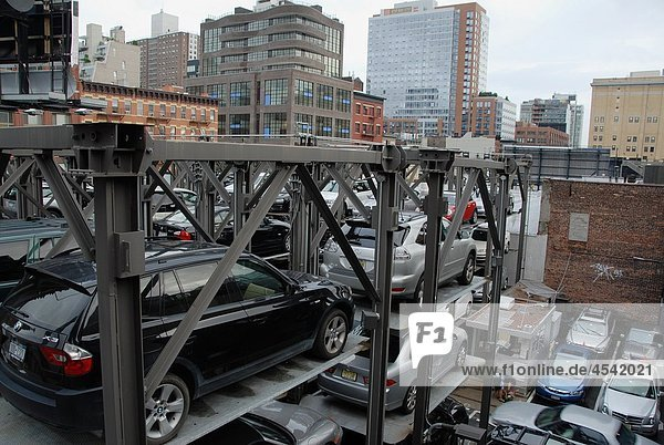 Automated Vehicle Storage System Park. Chelsea  West Downtown  Manhattan  New York  New York. USA.
