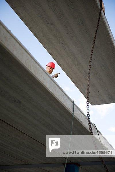 Worker auf Baustelle