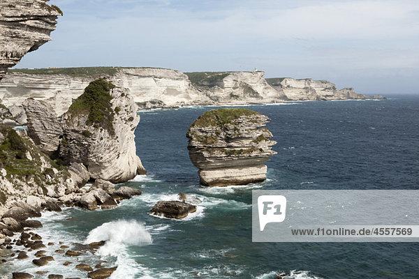 Cliffs at Bonifacio  Corsica