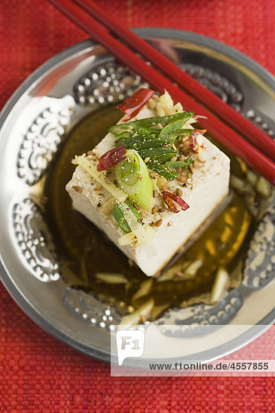 Tofu mit Ingwer  / Mit Englischsprachigem Rezept