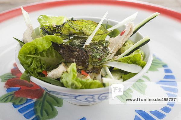 Thai-Salat  Huhn / Mit Englischsprachigem Rezept