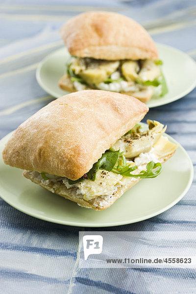 Artischocke Sandwiches  mariniert / Mit Englischsprachigem Rezept