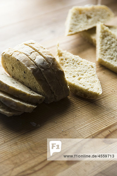Brot in Scheiben geschnitten