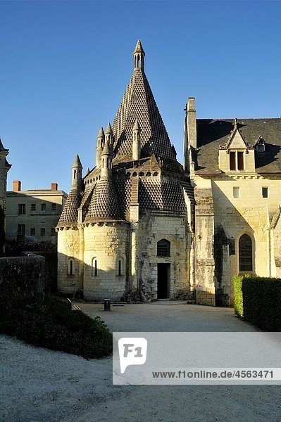 France  Anjou  Maine et Loire  Fontevraud l´Abbaye  Loire Valley on World Heritage list of UNESCO  Abbaye of Fontevraud  XII-XVII century  kitchen