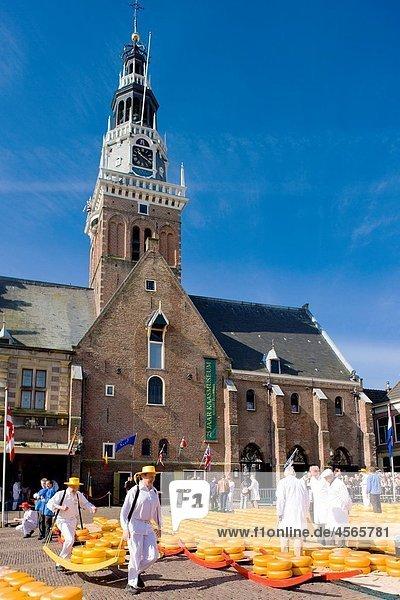 cheese market  Alkmaar  Netherlands