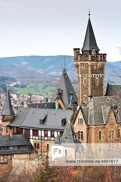 The castle of Wernigerode  Saxony Anhalt  Germany  Europe The castle of Wernigerode, Saxony Anhalt, Germany, Europe