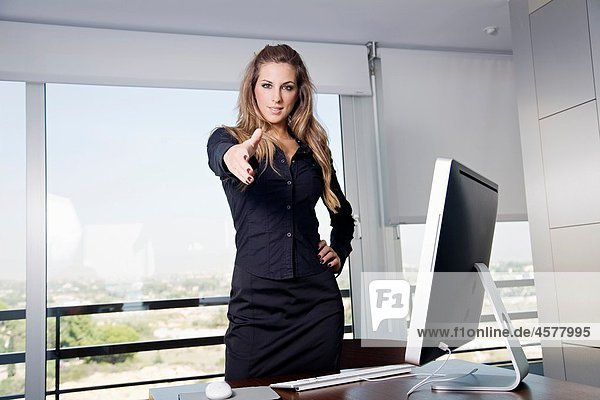 Portrait of a manager woman in her workplace