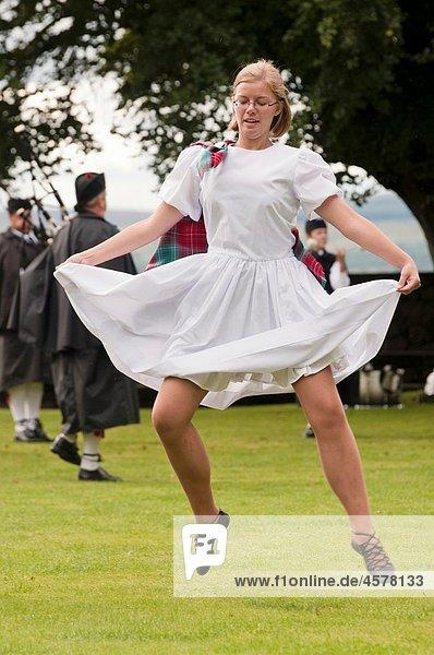 Girl Highland Dancing