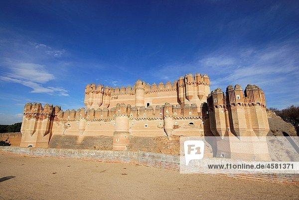 Castle Mudejar of Coca  Segovia  Spain
