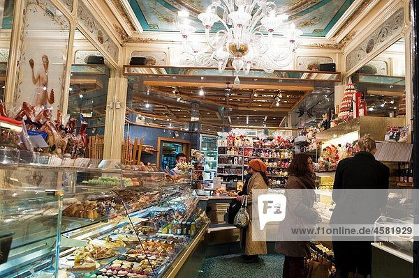 Paris  France  French Bakery Shop  Stohrer  inside  Montorgeuil District