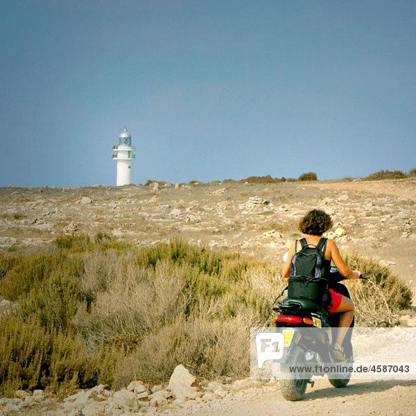 Mop near Barb‡ria cape lighthouse. Formentera  Balearic Islands. Spain
