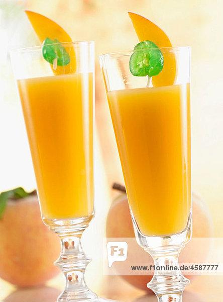 Peach cocktail.