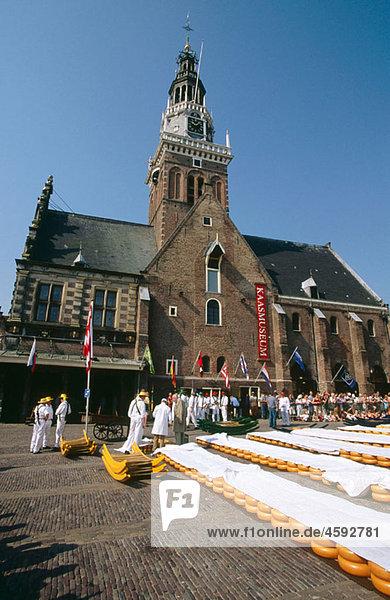 Cheese market. Alkmaar  Netherlands.