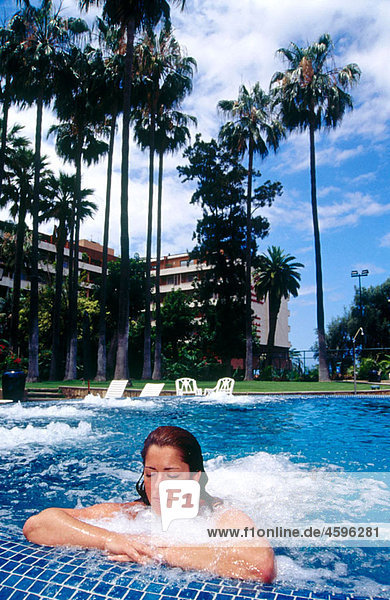 Jacuzzi. Hotel Bot·nico. Oriental Spa Garden. Puerto de la Cruz. Tenerife. Canary Islands. Spain.